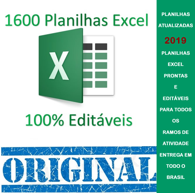 1600 Planilhas Excel