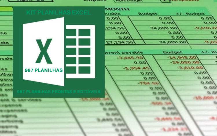 987 Planilhas Excel